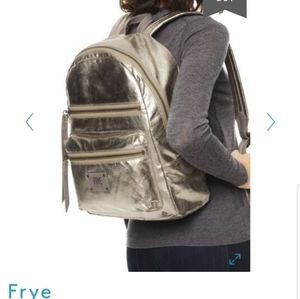 NWT FRYE Gold Large Metallic Backpack